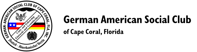 German American Social Club of Cape Coral, Florida Logo