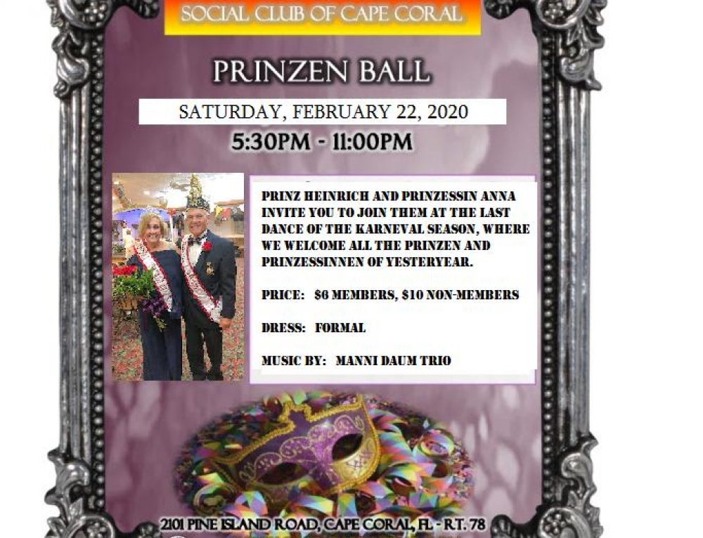 Prinzenball 2020 – Join us February 22nd!