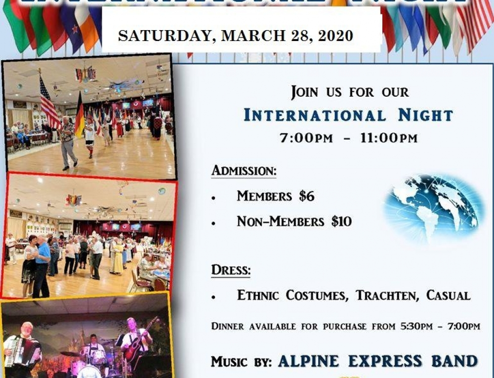 International Nite Join us March 28th!